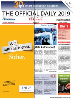 Tageszeitung SPS 2019 Tag 1 Digital
