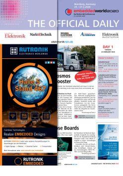 Tageszeitung embedded world 2020 Tag 1 Digital