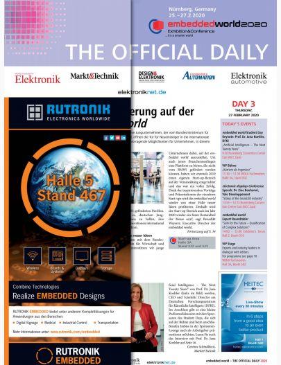 Tageszeitung embedded world 2020 Tag 3 Digital