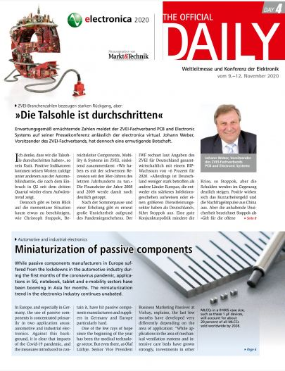 Tageszeitung electronica 2020 Tag 4 Digital