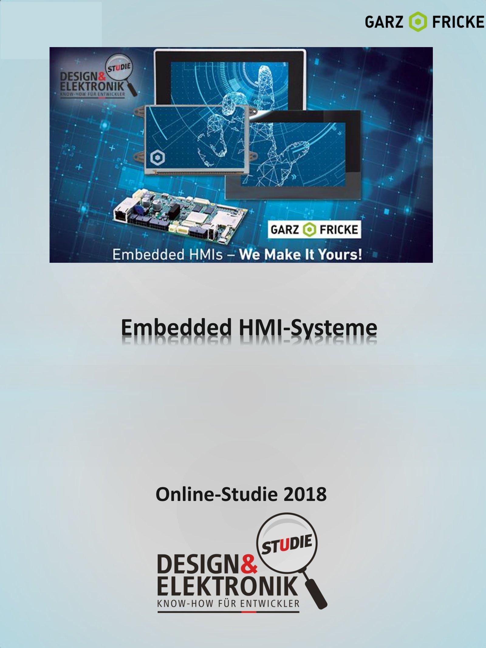DESIGN&ELEKTRONIK Studie Embedded-HMI-Systeme 2018 Digital