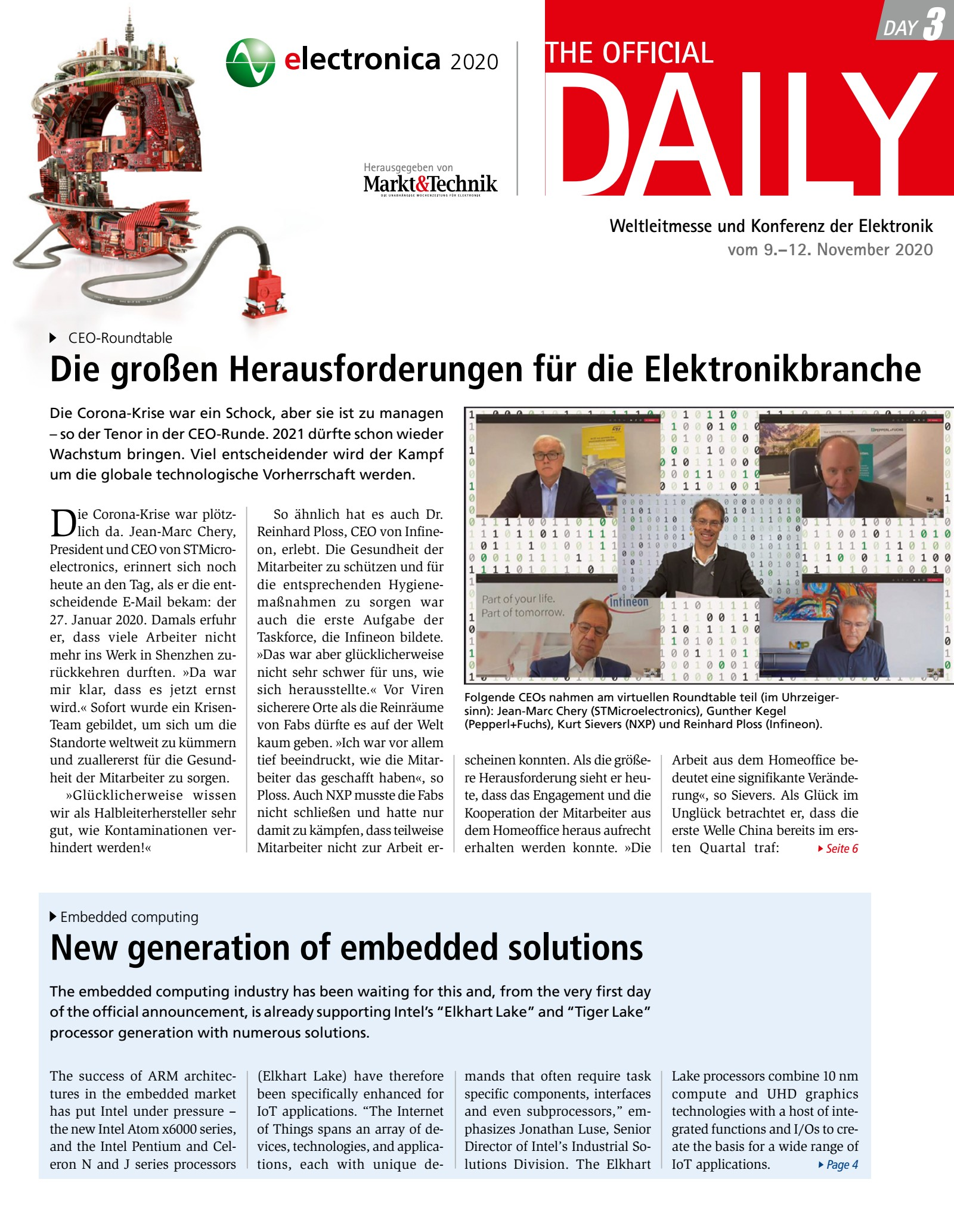 Tageszeitung electronica 2020 Tag 3 Digital